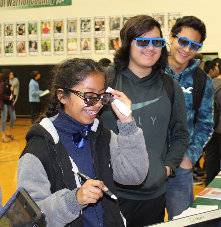 SCHS enjoying the fourth annual Tech Fair