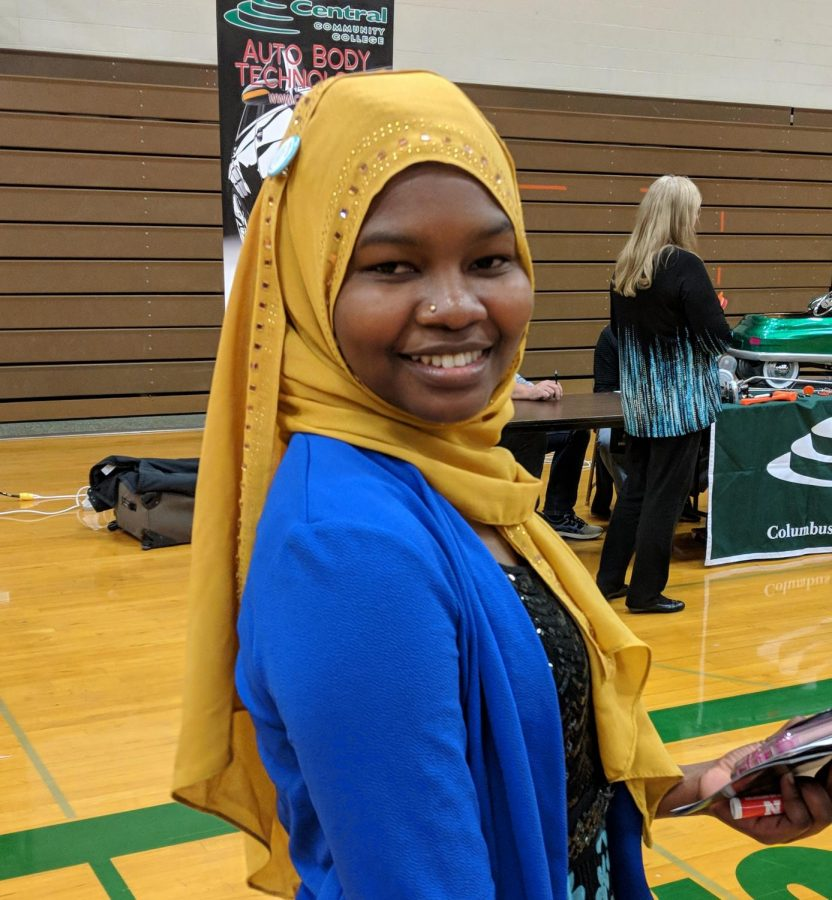 Fane Saleh enjoying the Tech Fair.