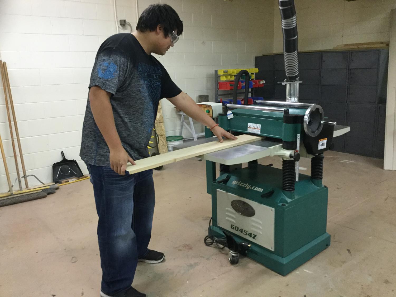 Adrian Zamudio using the new equipment.