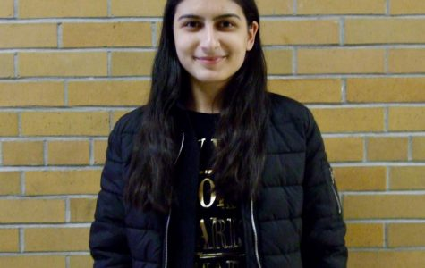 Anna Misakya, Armenian foreign exchange student, attends school at Schuyler Central High School.