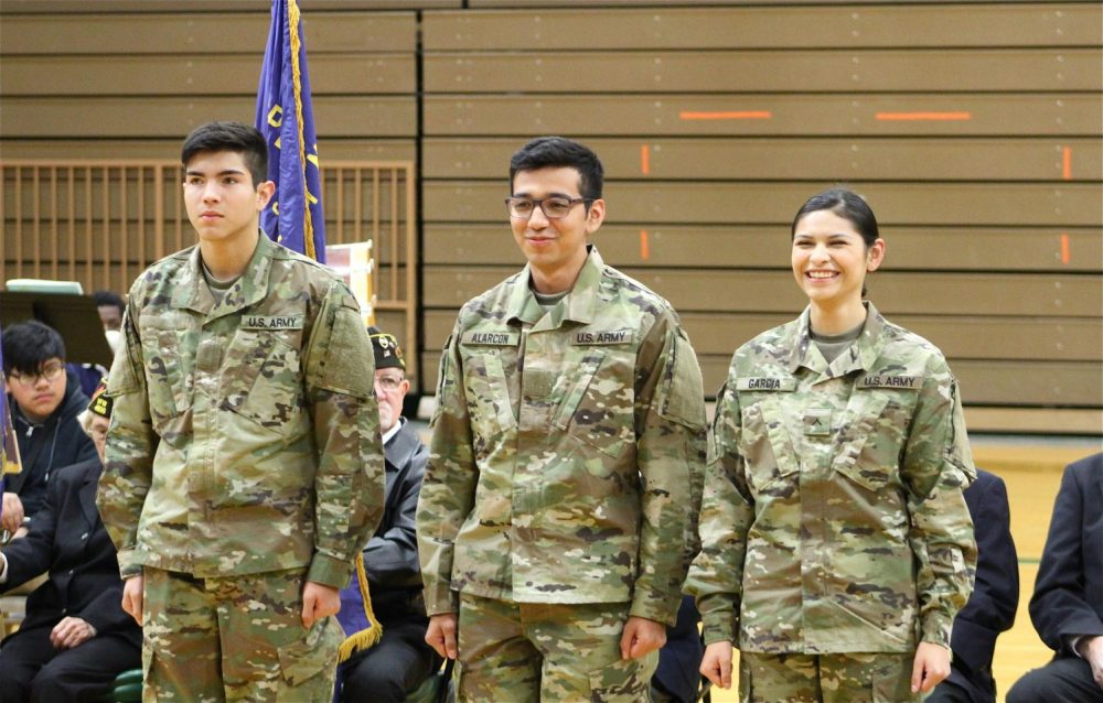 Pammela Garcia, Carlos Alarcon, and Roberto Fuentes talked about where they are going to go to basic training.