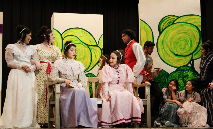 A+scene+from+the+SCHS+One+Act+play+%22Darcy+and+Elizabeth%22.