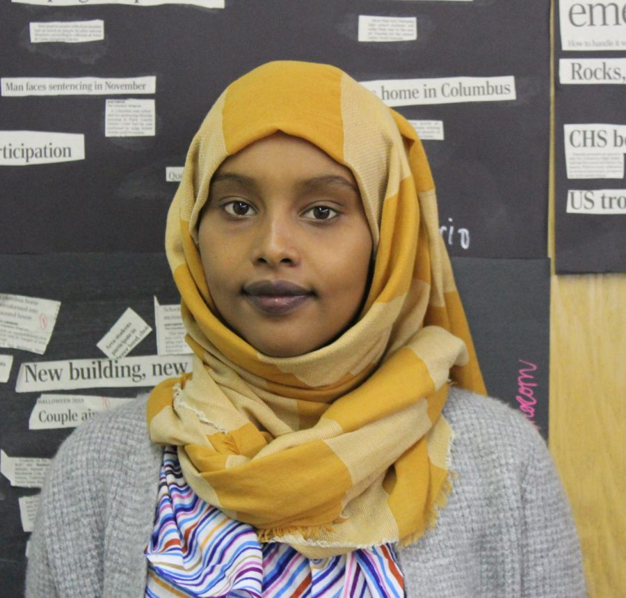Leensa Ahamed joins SCHS from Ethiopia.