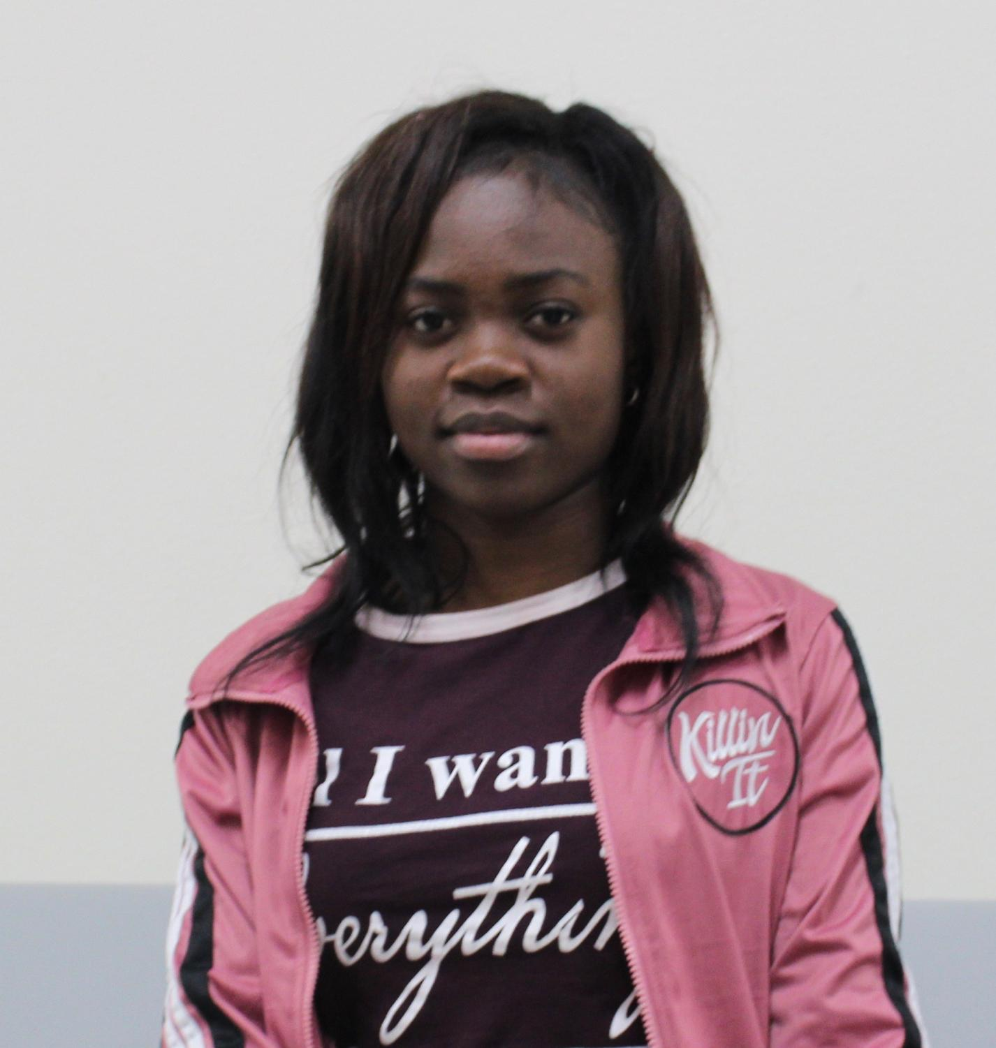 Ketsia Dimpolo is happy to be a SCHS student.