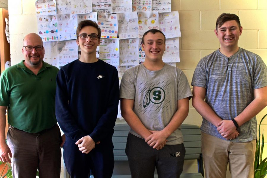 John Sayer, Connor Bywater, Preston Anderson, and Pietro Caliagana.