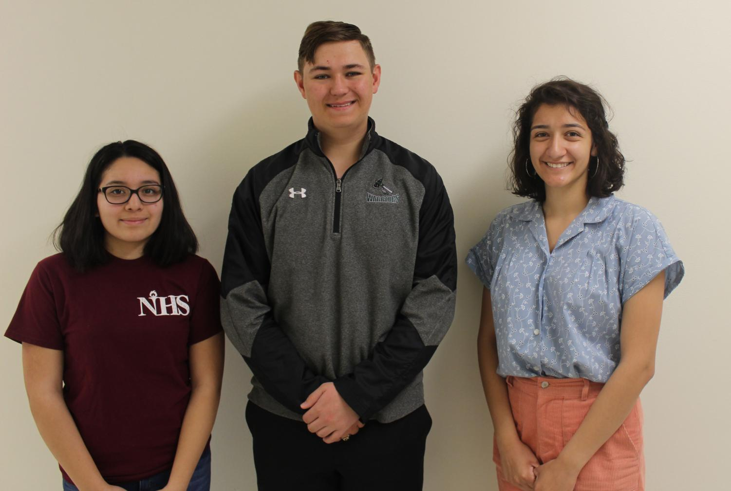 SCHS Conference Honor Band students are; Ashley Hernandez, Connor Bywater, and Crystal Carrillo. Not pictured was: Maria Semerad.