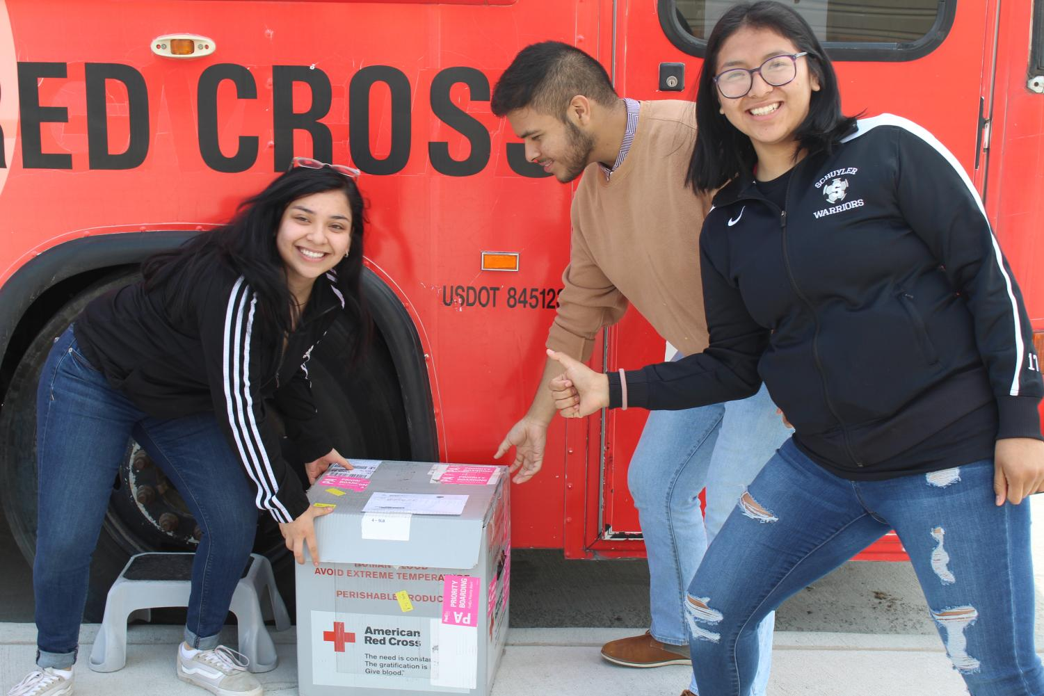 Students are getting prepared for the Spring Blood Drive