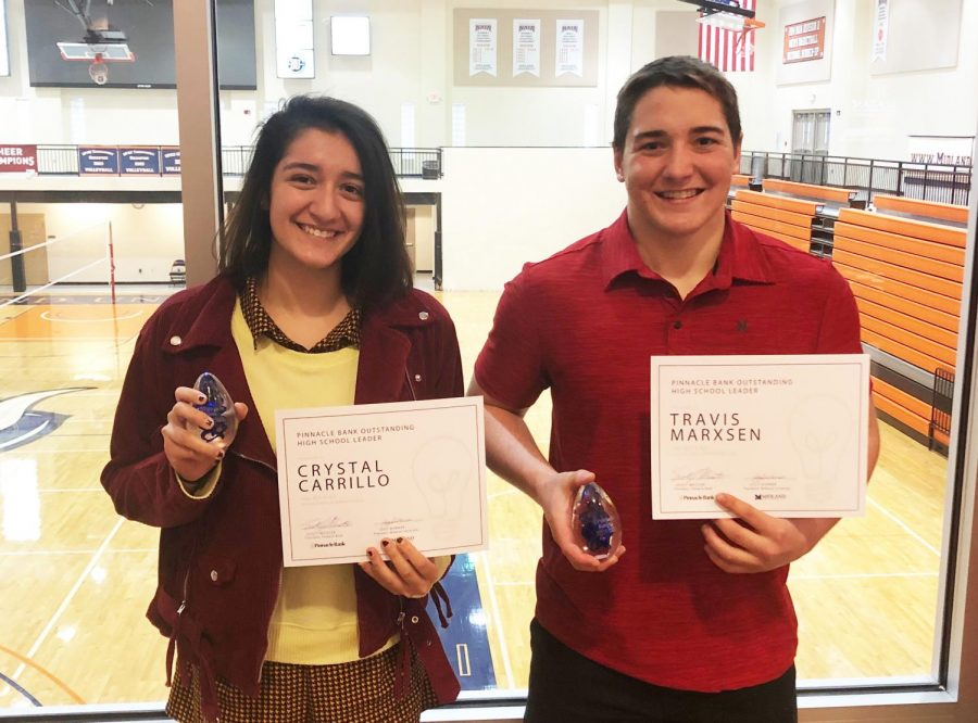 Two Students receive Midland Leadership Award