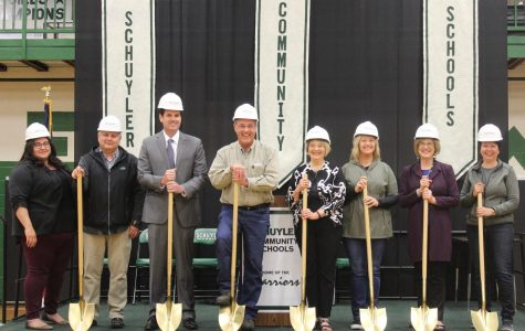 School board members and project partners in the Ground Breaking Ceremony.