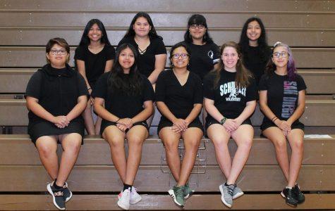Front Row Left to Right: Kalany Arevalo, Janel Lopez, Ivana Lopez, Carly Johnson, Natalia Ruiz. Second Row: Esmeralda Sacarias, Marianna Castillo, Evelin Pena, Jazmine Martinez.