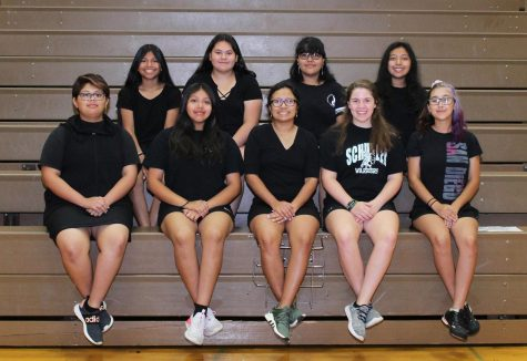 Front Row Left to Right: Kalany Arevalo, Janel Lopez, Ivana Lopez, Carly Johnson, Natalia Ruiz. Second Row: Esmeralda Sacarias, Marianna Castillo, Evelin Pena, Jazmine Martinez.