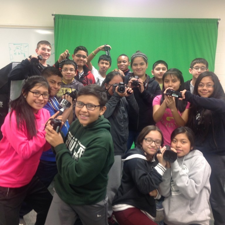 Current Senior students who were in junior high broadcasting class.