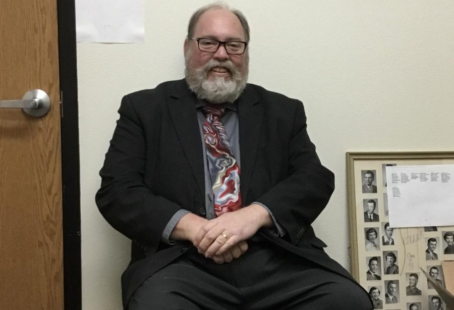 Stephen Grammer sitting in his office.