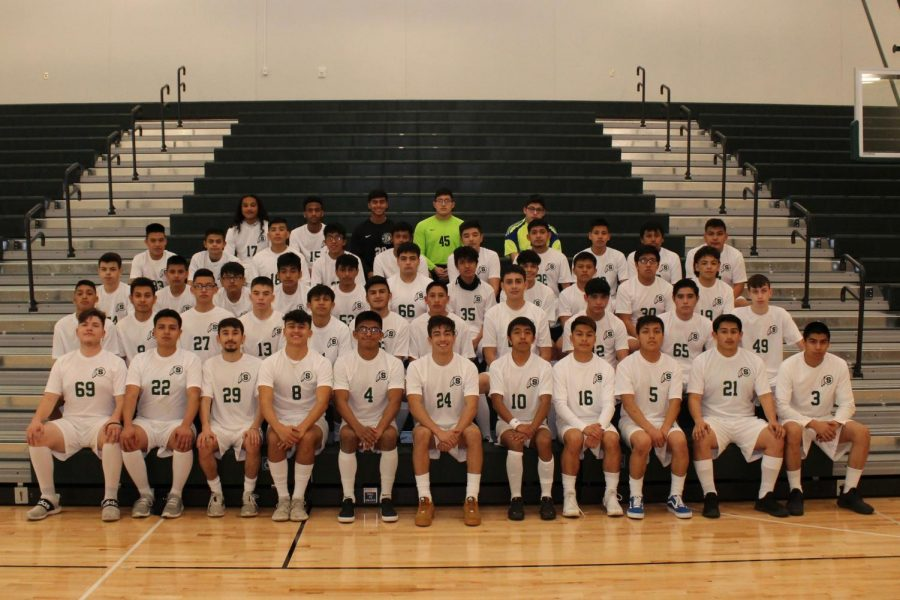 SCHS Boys Soccer Team poses for a picture.