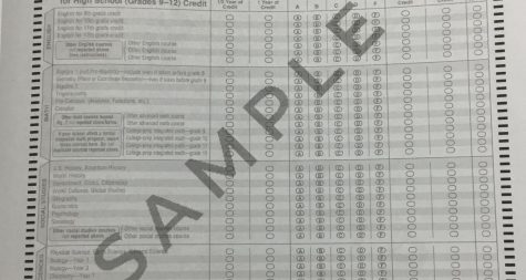 A sample of a bubble testing sheet.