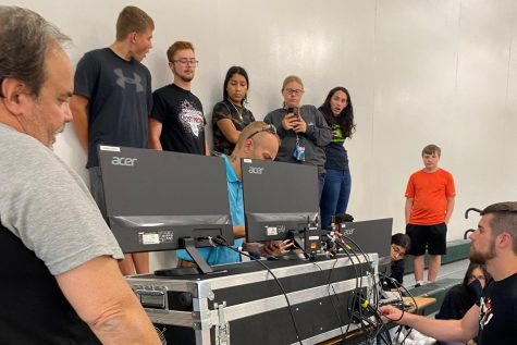Broadcasting and Media Production students are trained by Striv Staff on new equipment.